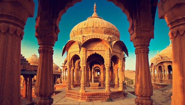 Imagem de um templo na Índia