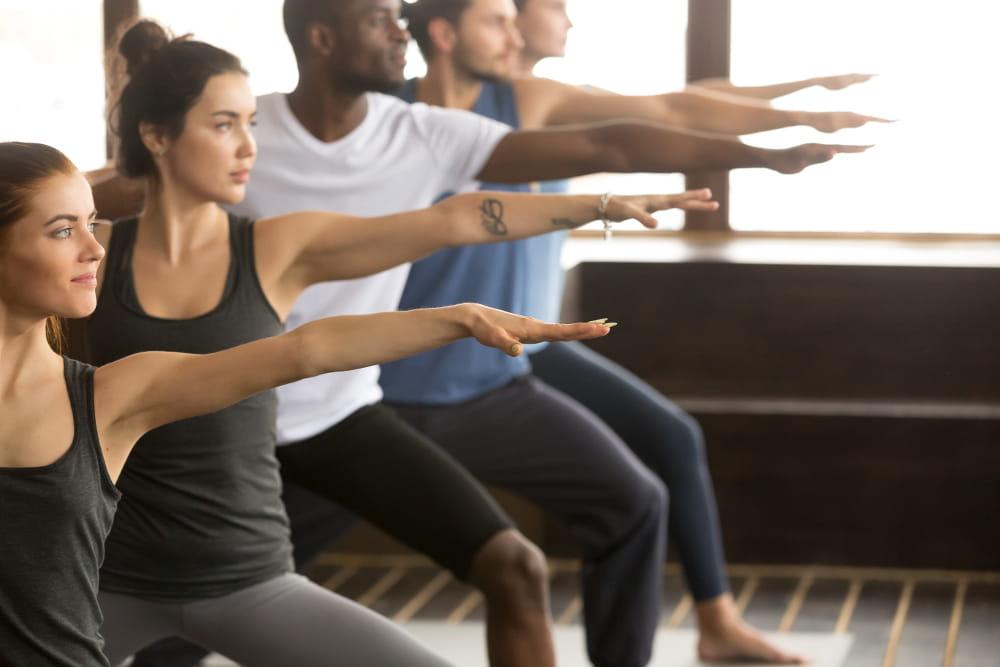 Posturas do Yoga: Postura do Guerreiro II.